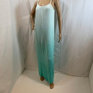 Spendlid SZ S Maxi Crinkle Rayon Dress